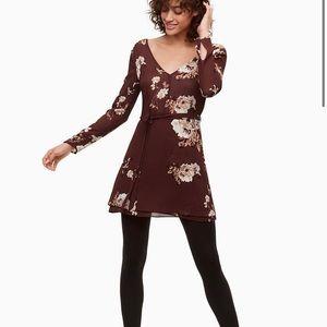 Aritzia little moon cordata dress sz 0 floral